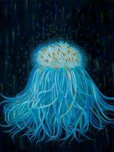 """""""Sea Daisy"""", 2016 24x24 inch oil on copper"""